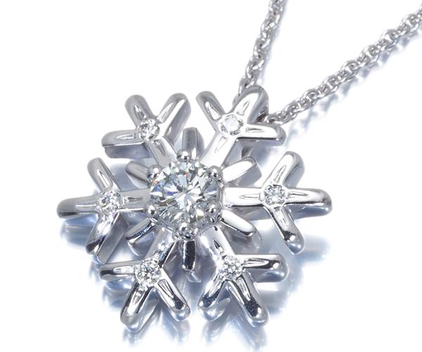ショパール ネックレス ダイヤモンド スノーフレーク K18WG