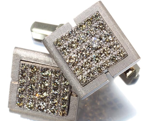 カシケイ カフス ダイヤモンド 1.8ct K18BG/K14WG