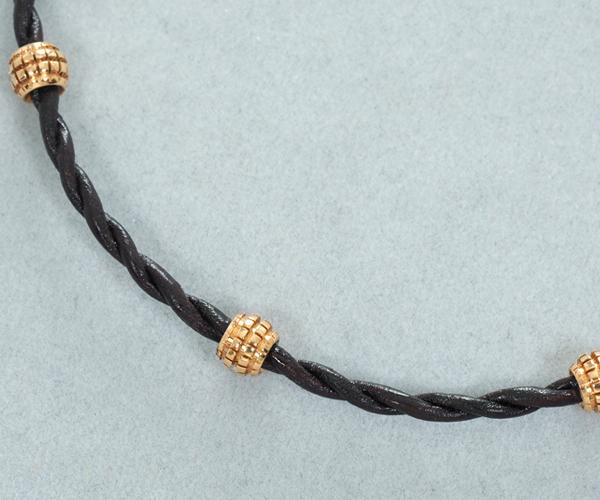 ダミアーニ ブレスレット ダイヤモンド メトロポリタンドリーム K18PG/レザー