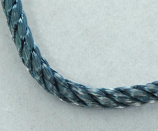 フレッド ブレスレット用コード フォース10 LM ネイビーブルー スティールケーブル 18刻印 SS