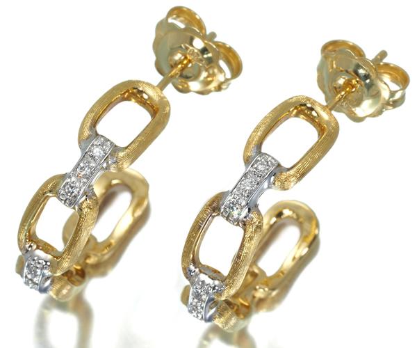 マルコビチェゴ ピアス ダイヤモンド フープ K18YG/WG