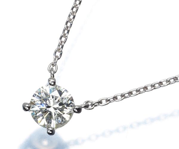ヴァンドーム ネックレス 一粒 ダイヤモンド 0.35ct Pt950/Pt850