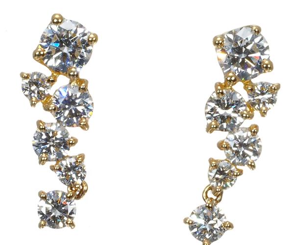 フォーエバーマーク ピアス ダイヤモンド 0.68ct K18YG