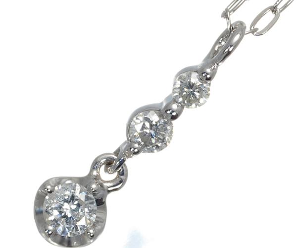 4℃ ヨンドシー ネックレス ダイヤモンド K18WG