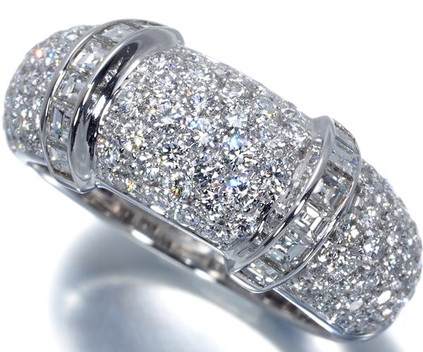 ブシュロン リング ダイヤモンド パヴェ 11.5号 K18WG