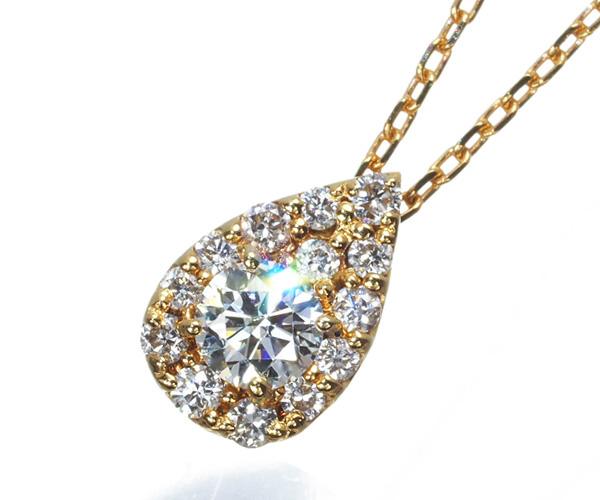 ヴァンドーム ネックレス ダイヤモンド 0.12ct K18YG