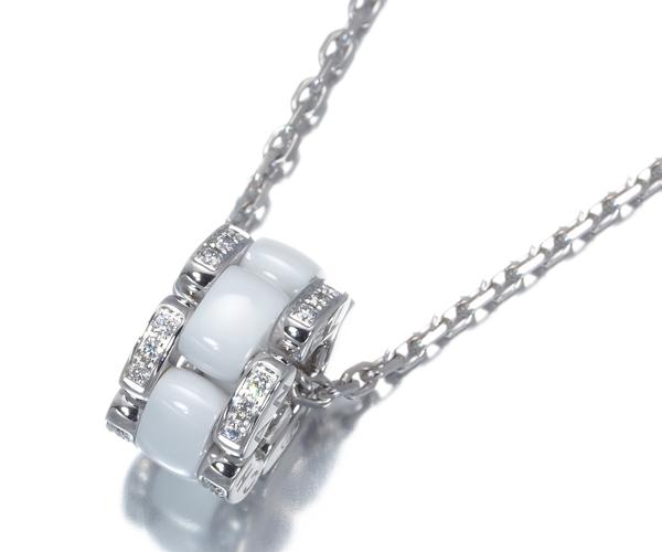 シャネル ネックレス ダイヤモンド ウルトラ J12 ホワイト K18WG/セラミック