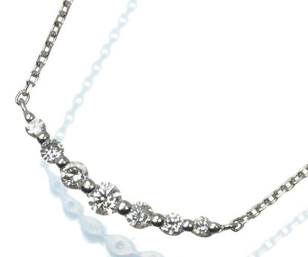 ヴァンドーム ネックレス ダイヤモンド 0.17ct Pt950/Pt850