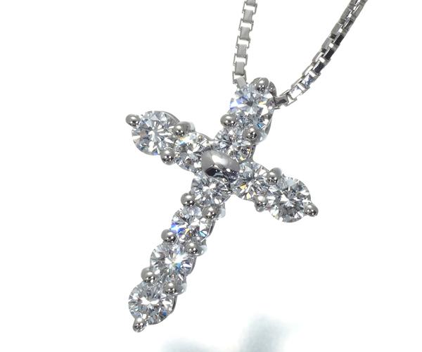 TASAKI タサキ ネックレス ダイヤモンド 0.48ct クロス Pt900/Pt850