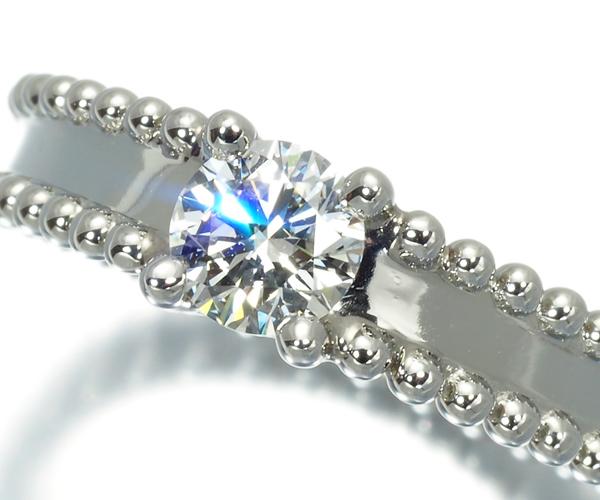 ヴァンクリーフ&アーペル リング ダイヤモンド 0.33ct D VVS1 EX エステル 49号 Pt950