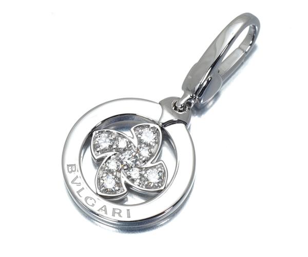 ブルガリ ペンダントトップ ダイヤモンド トンド ウィンドミル チャーム K18WG