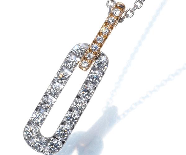 ダミアーニ ネックレス ダイヤモンド インスィエメ K18WG/PG