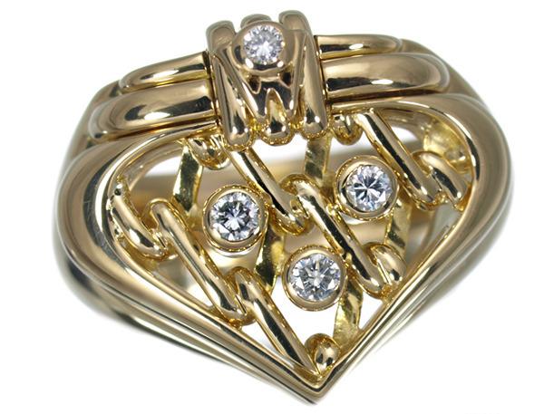 ウェレンドルフ リング ダイヤ ダイヤモンド K18YG