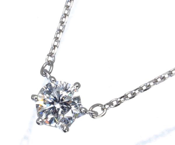 4℃ ネックレス 一粒 ダイヤモンド 0.214ct Pt850