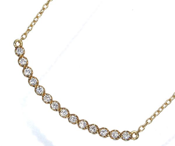 アーカー ネックレス ダイヤモンド 0.07ct ビリーブユー K18YG