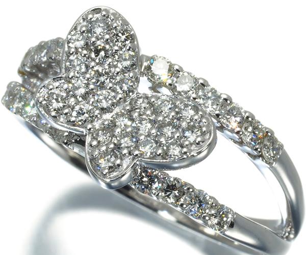 ポンテヴェキオ リング ダイヤモンド 0.67ct バタフライ K18WG