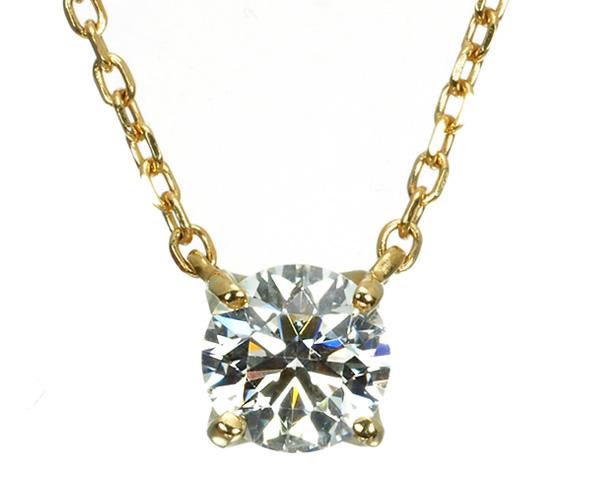 ヴァンドーム ネックレス ダイヤモンド 0.266ct 一粒 K18YG