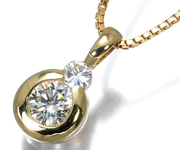 モニッケンダム ネックレス ダイヤモンド 0.596ct/0.15ct K18YG