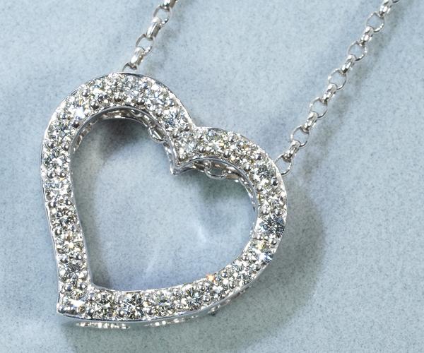 ポンテヴェキオ ネックレス ダイヤモンド 0.36ct ハート K18WG