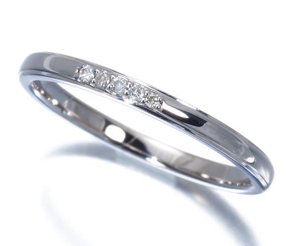 カナル4℃ リング ダイヤモンド 9号 K10WG