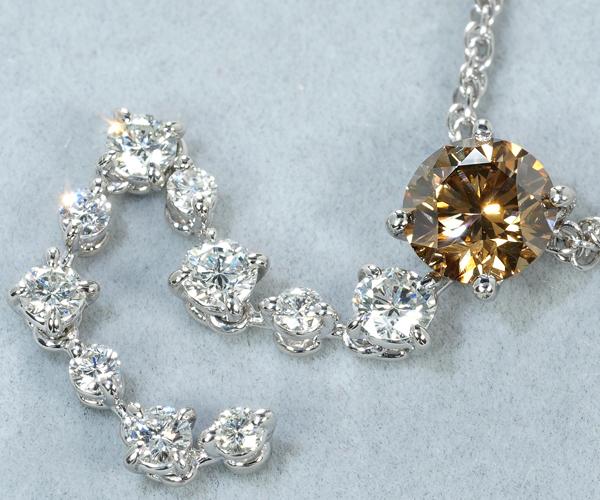カシケイ ネックレス ダイヤモンド 1.055ct/0.70ct Pt900/Pt850