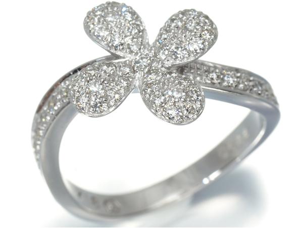 ヴァンドーム リング 指輪 ダイヤ 0.44ct 花 フラワー K18W