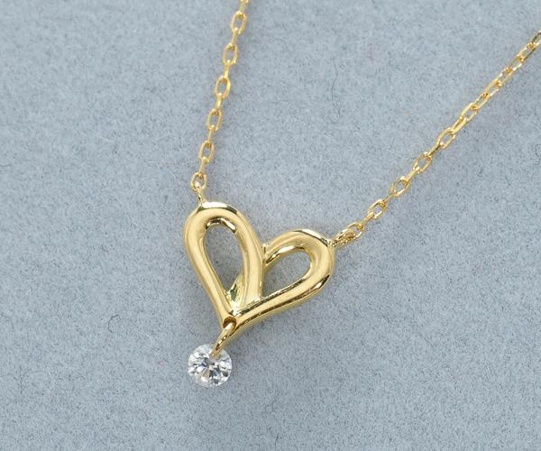 アーカー ネックレス ダイヤモンド フィルージュハート K18YG
