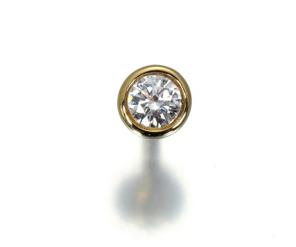 ティファニー ピアス ダイヤモンド 0.05ct程 バイザヤード 片耳 K18YG