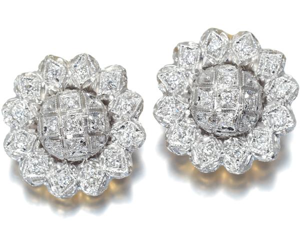 ポンテヴェキオ ピアス ダイヤモンド 0.20ct フラワー K18YG/WG