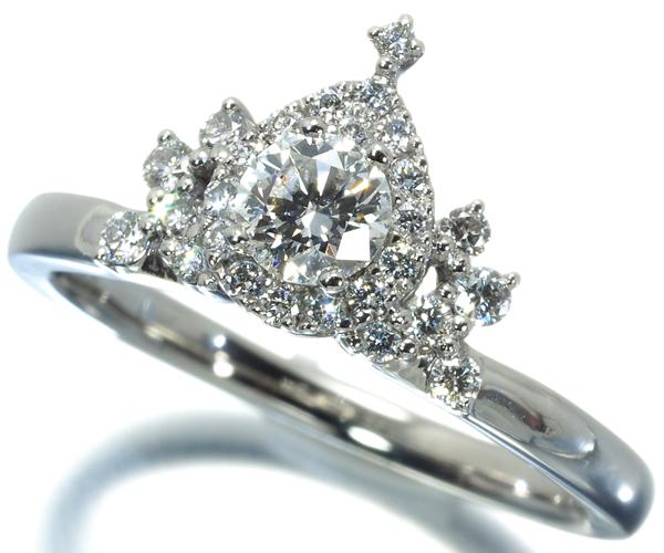 4℃ ヨンドシー リング ダイヤモンド 0.217ct ディズニー DISNEY 6.5号 Pt950