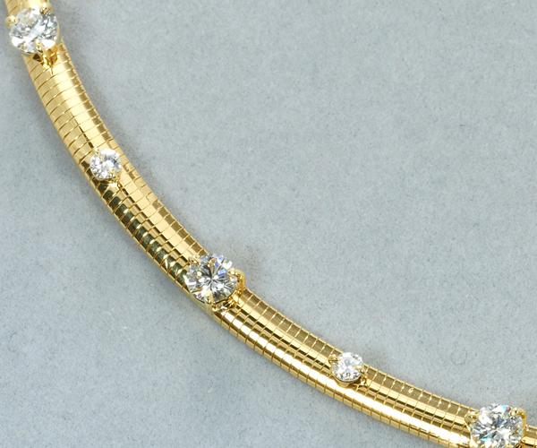 モニッケンダム ネックレス ダイヤモンド 1.44ct オメガ K18YG