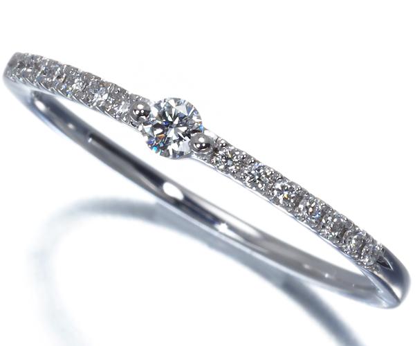スタージュエリー リング ダイヤモンド 0.10ct ハーフエタニティ 11号 K18WG