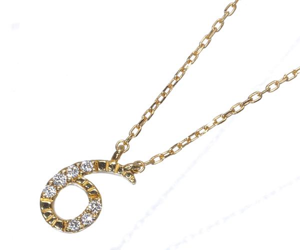 スタージュエリー ネックレス ダイヤモンド ナンバー No.6 K18YG