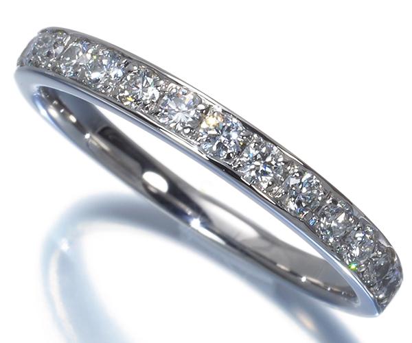 ヴァンドーム リング ダイヤモンド 0.38ct ハーフエタニティ 10号 Pt950
