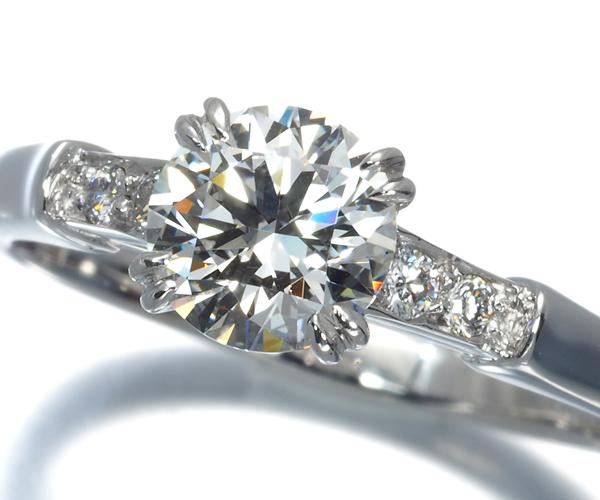 ハリーウィンストン リング ダイヤモンド 0.77ct F VS1 EX トリスト 11号 Pt950