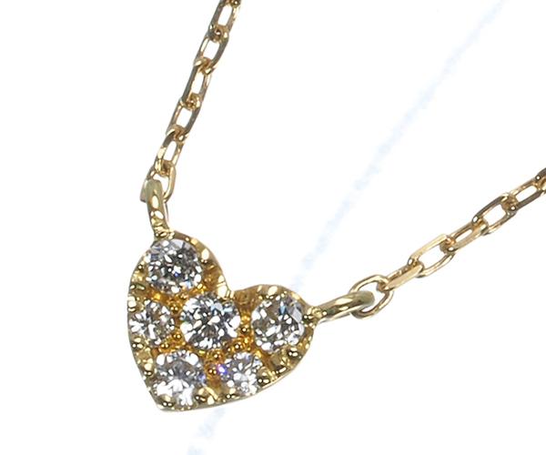 アーカー ネックレス ダイヤモンド ドリームスペルハート K18YG