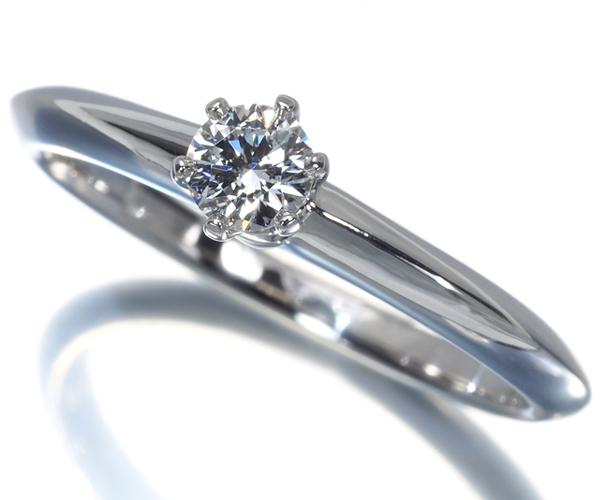 ティファニー リング ダイヤモンド 0.18ct ソリティア 10.5号 Pt950