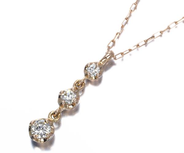 4℃ ヨンドシー ネックレス ダイヤモンド K18PG