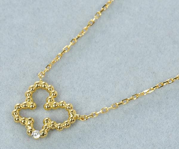 アーカー ネックレス ダイヤモンド バタフライ K18YG