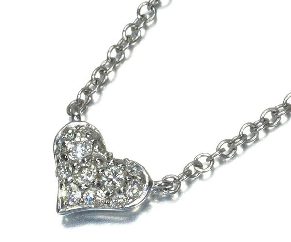 ポンテヴェキオ ネックレス ダイヤモンド 0.17ct ハート K18WG
