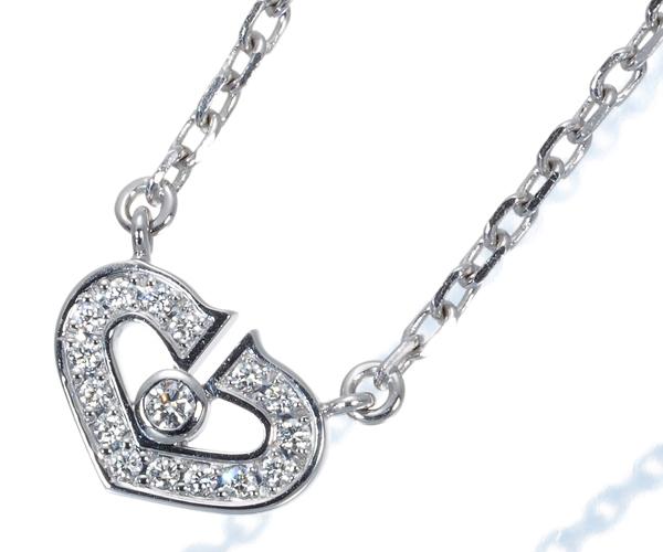 カルティエ ネックレス ダイヤモンド Cハート ハート&シンボル K18WG