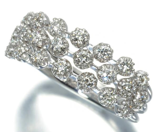 スタージュエリー リング ダイヤモンド 0.44ct 10号  K18WG