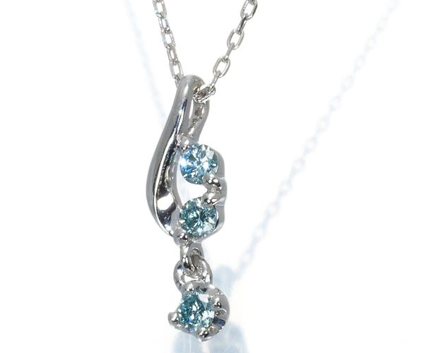 カナル4℃ ネックレス ブルーダイヤモンド K18WG