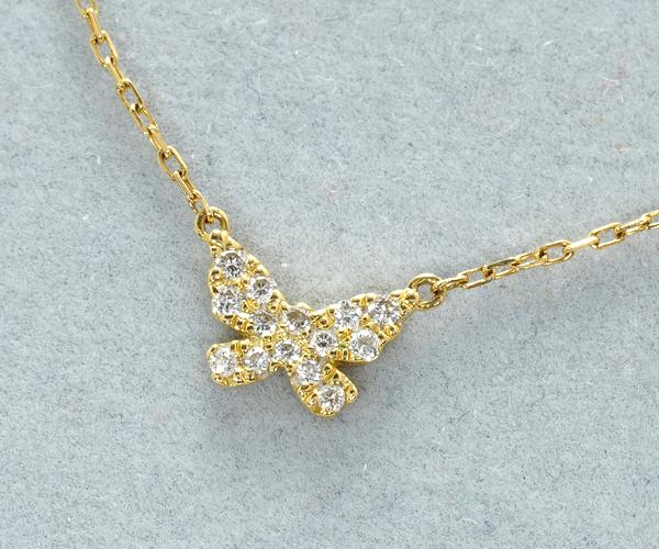 アーカー ブレスレット ダイヤモンド 0.06ct バタフライ K18YG