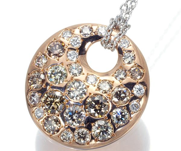 カシケイ ネックレス ダイヤモンド 1.70ct メランジェ K18PG/WG