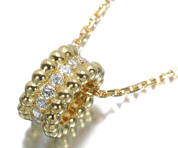 ヴァンクリーフ&アーペル ネックレス ダイヤモンド ペルレ K18YG