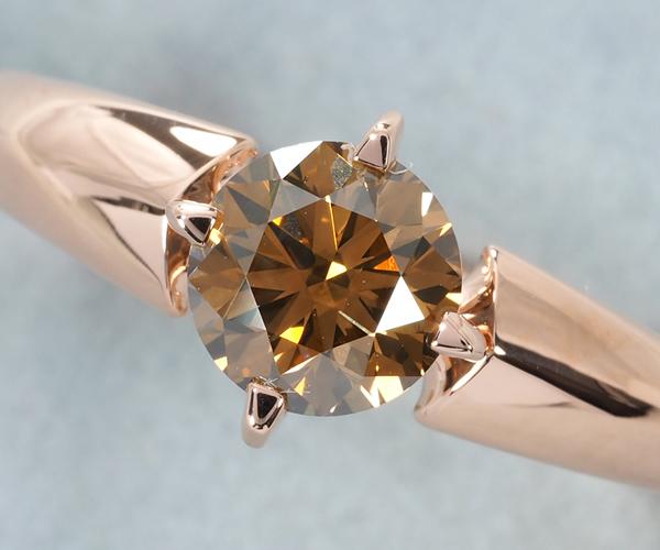 カシケイ リング ダイヤモンド 0.73ct/0.02ct ソリティア 10号 K18PG