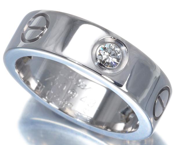 カルティエ ラブリング ダイヤモンド ハーフ 49号 K18WG