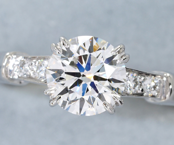 ハリーウィンストン リング ダイヤモンド 0.78ct F VVS1 3EX トリスト 11号 Pt950