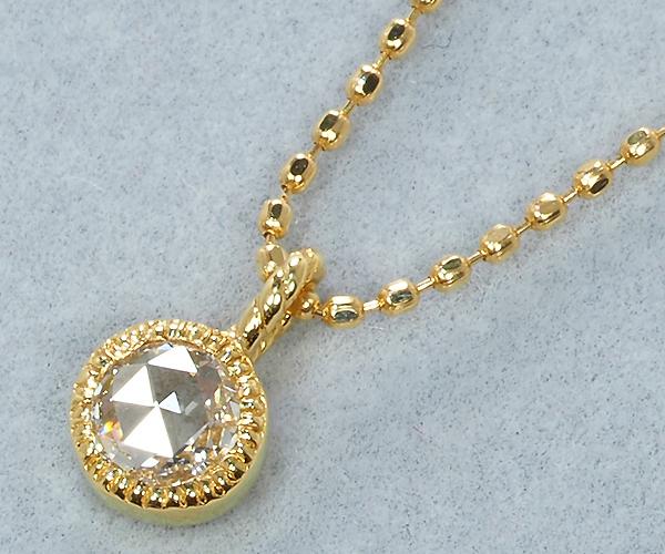 ベーネベーネ ネックレス ローズカットダイヤモンド 0.12ct K18YG